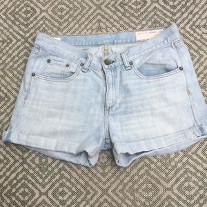 Rag & Bone Cuffed Shorts 💯 Cotton Sz 27 beautiful